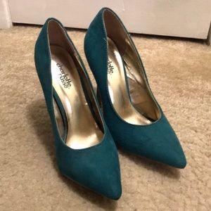 Charlotte Russe Size 6 Teal Heels
